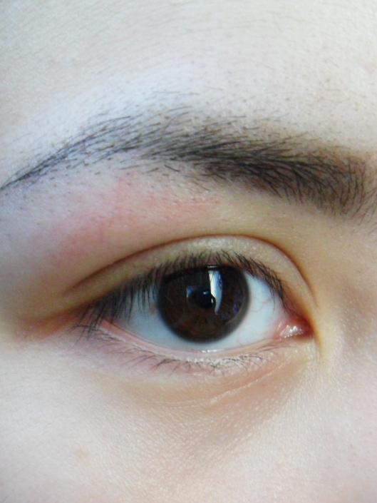 closer shot while wearing nichido eye pencil for my brows.